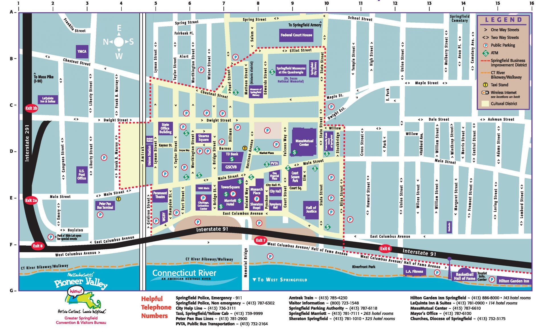 Directions & Parking | Springfield Museums