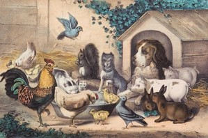 Feathers and Fur: Animal Companions in Currier & Ives Prints at the Michele & Donald D'Amour Museum of Fine Arts