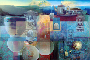 Mixing It Up: Digital Collage Paintings by Robert Masla at the Michele & Donald D'Amour Museum of Fine Arts