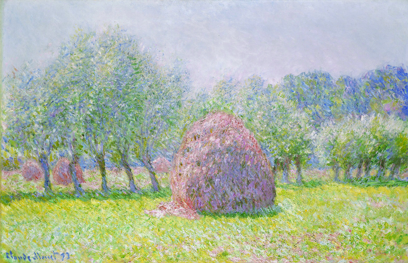 Monet's Grainstacks, French Impressionism Gallery