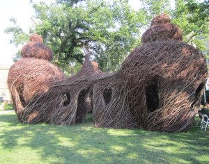 Room by Room: An Original Sculpture by Patrick Dougherty at the Michele & Donald D'Amour Museum of Fine Arts