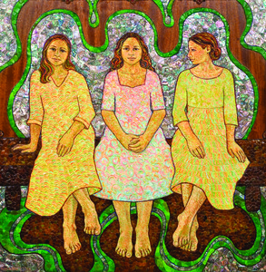 Sisterhood: Mixed Media Paintings by Rosa Ibarra at the Michele & Donald D'Amour Museum of Fine Arts