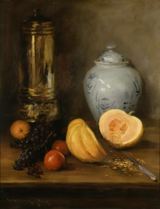 Still Life (with Ginger Jar, Pumpkin And Samovar), William Merritt Chase