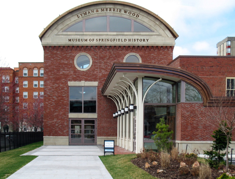The front of the Lyman & Merrie Wood Museum of Springfield History