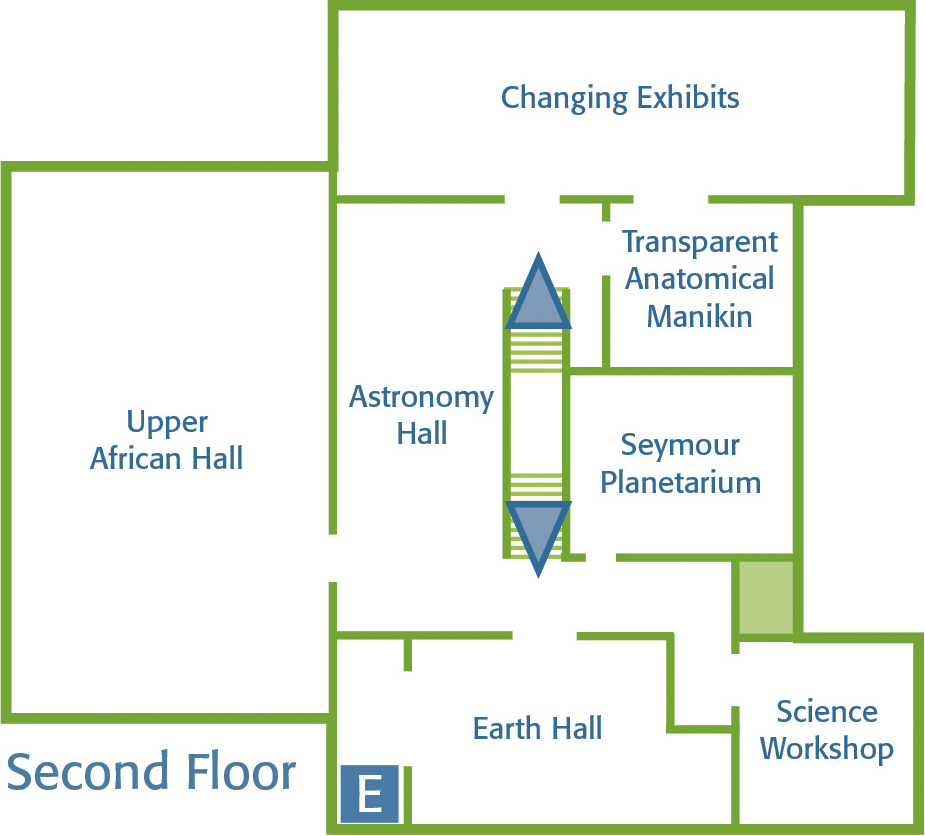 Springfield Science Museum Map – Second Floor