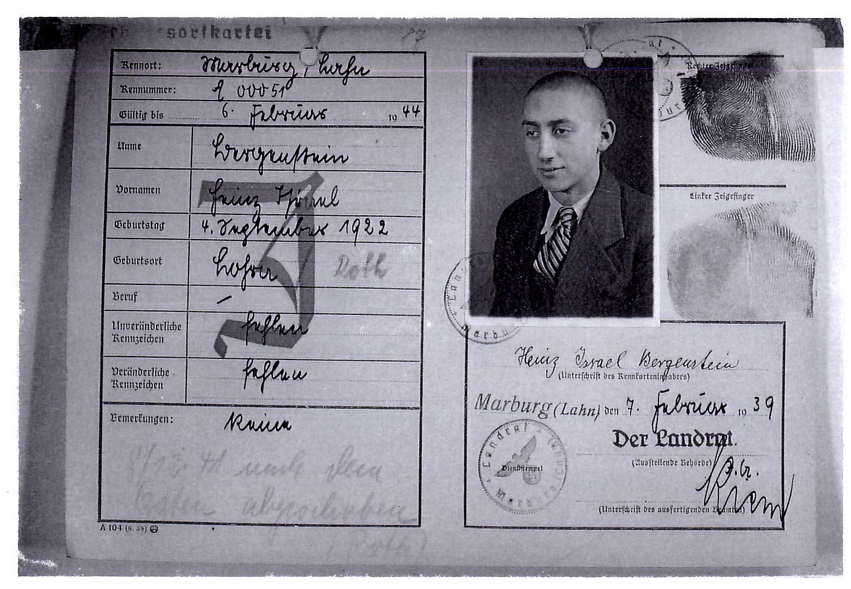 2. Heinz Bergenstein's Kennkarte
