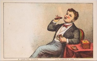 A Capital Cigar, Currier & Ives