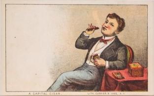 A Capital Cigar, Currier & Ives