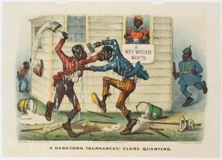 A Darktown Tournament, – Close Quarters, Currier & Ives