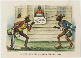 A Darktown Tournament, – The First Tilt, Currier & Ives