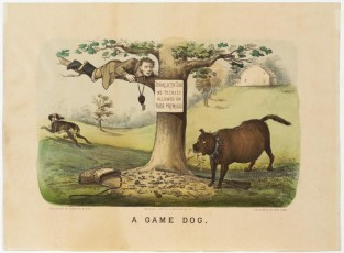 A Game Dog, Currier & Ives