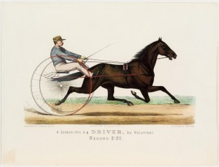 A. Goldsmith's B.g. DRIVER, By Volunteer. Record 2:20, Currier & Ives