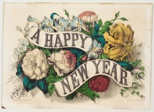 A Happy New Year, Currier & Ives