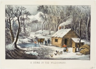 A Home In The Wilderness, Currier & Ives