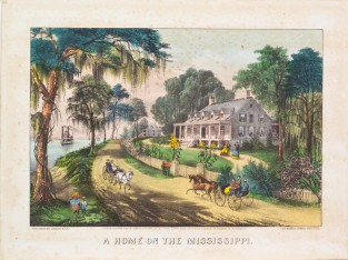 A Home On The Mississippi., Currier & Ives