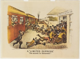 "A ""Limited Express"". "" Five Seconds Of Refreshments"", Currier & Ives"