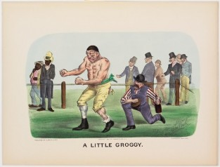 A Little Groggy, Currier & Ives
