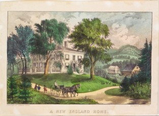 A New England Home, Currier & Ives