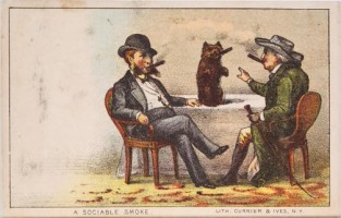 A Sociable Smoke, Currier & Ives