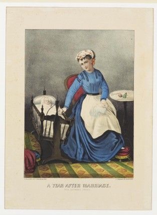 A Year After Marriage. The Mother's Jewel, Currier & Ives