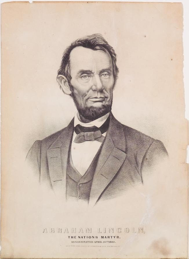Abraham Lincoln The Nation S Martyr Currier Amp Ives