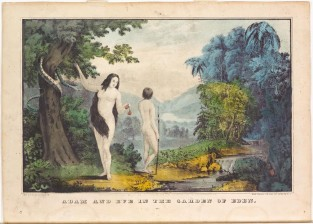 Adam And Eve In The Garden Of Eden, Nathaniel Currier