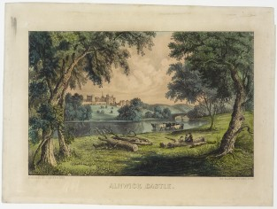 Alnwick Castle, Currier & Ives