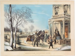 American Country Life. Pleasures Of Winter, Nathaniel Currier