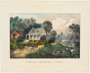 American Homestead Summer, Currier & Ives