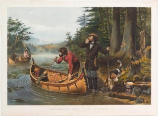 "American Hunting Scenes: ""An Early Start"", Currier & Ives"