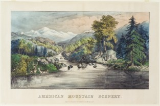 American Mountain Scenery, Currier & Ives