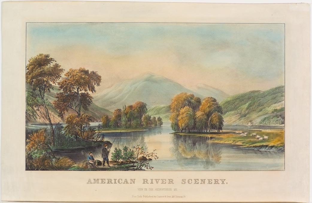 Landscape scene along river