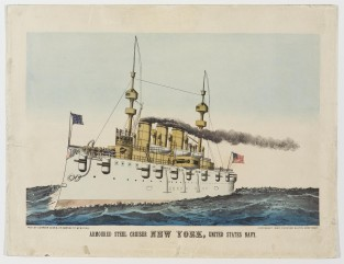 Armoured Steel Cruiser New York, United States Navy, Currier & Ives