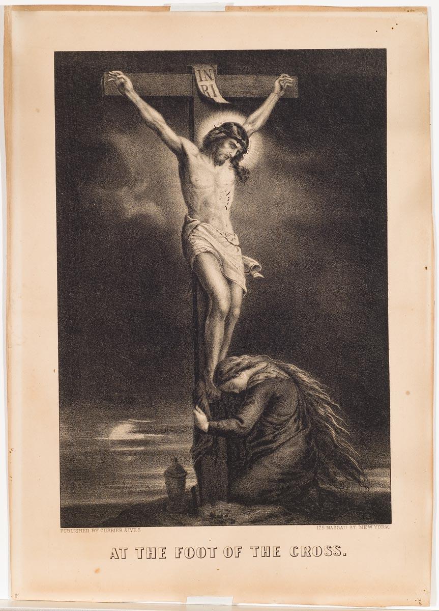 Christ on cross at center