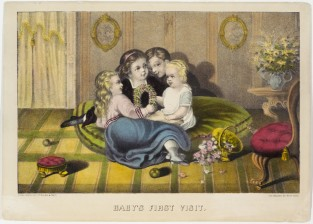 Baby's First Visit, Currier & Ives