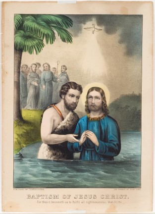 Baptism Of Jesus Christ, Currier & Ives