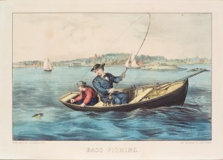 Bass Fishing, Currier & Ives