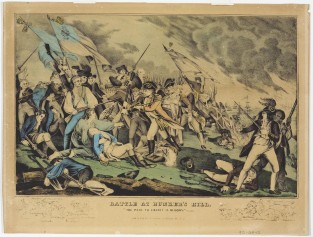 Battle At Bunker's Hill, Nathaniel Currier