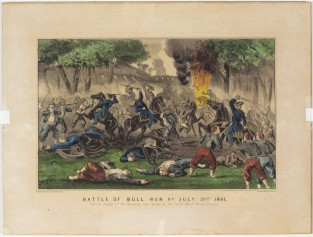 Battle Of Bull Run VA July 21st 1861. Gallant Charge Of The Zouaves And Defeat Of The Rebel Black Horse Cavalry, Currier & Ives