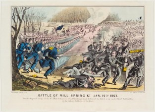 Battle Of Mill Spring, K.Y. Jan. 19th 1862, Currier & Ives