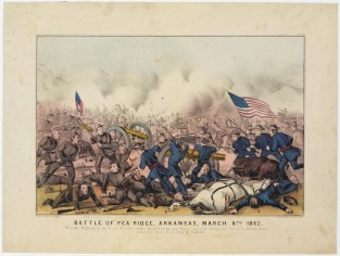 Battle Of Pea Ridge, Arkansas, March 8th 1862., Currier & Ives