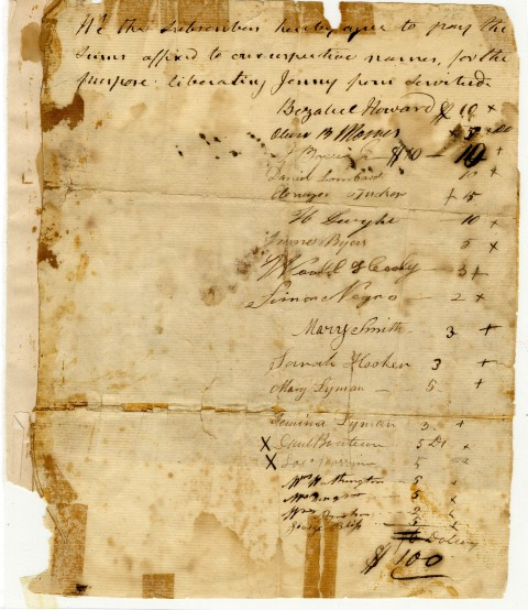 Bill Of Sale For Jenny, 16 February 1808