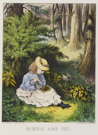 Birdie And Pet, Currier & Ives