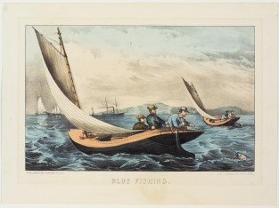 Blue Fishing, Currier & Ives