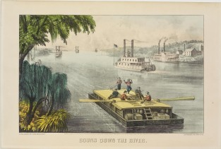 Bound Down The River, Currier & Ives