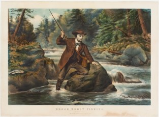 "Brook Trout Fishing. ""An Anxious Moment"", Currier & Ives, Painted By A. F. Tait On Stone By C. H. Parsons (lower Left)"