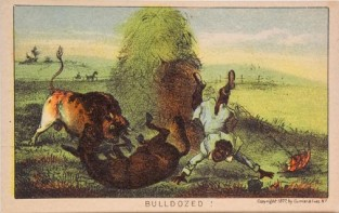 Bull Dozed!, Currier & Ives