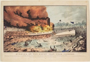 Burning Of The HENRY CLAY Near Yonkers., Nathaniel Currier