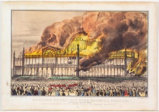 Burning Of The New York Crystal Palace, On Tuesday, Oct. 5th 1858., Currier & Ives