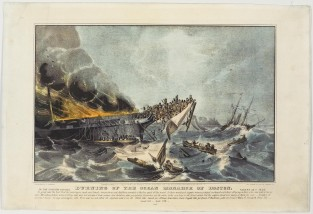 Burning Of The Ocean Monarch Of Boston, Nathaniel Currier